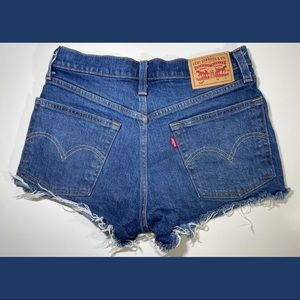 Levis 501 Distressed Frayed Shorts